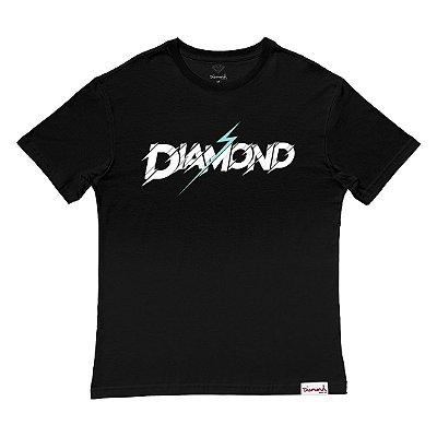 Camiseta Diamond Flash Tee Masculina Preto
