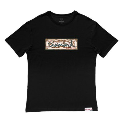 Camiseta Diamond Chesapeake Box Logo Tee Masculina Preto