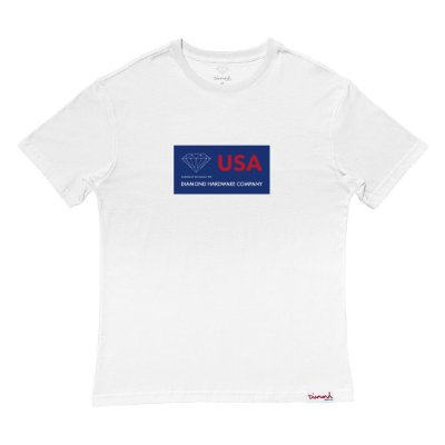 Camiseta Diamond Usa Tee Masculina Branco