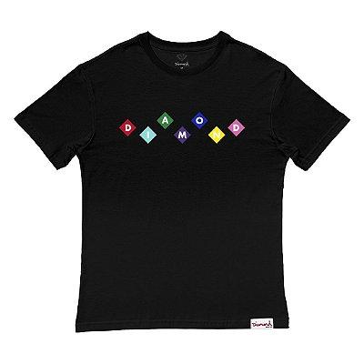 Camiseta Diamond Primary Tee Masculina Preto