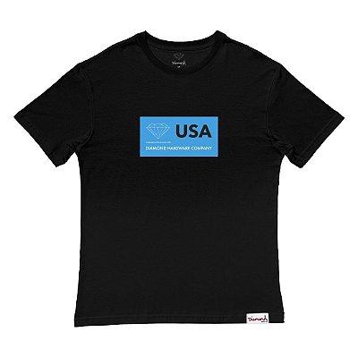 Camiseta Diamond Usa Tee Masculina Preto