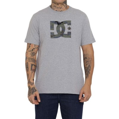 Camiseta DC Shoes DC Star Camo Fill Masculina Cinza Mescla