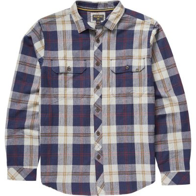 Camisa Billabong M/L Grayson Xadrez Azul/Cinza