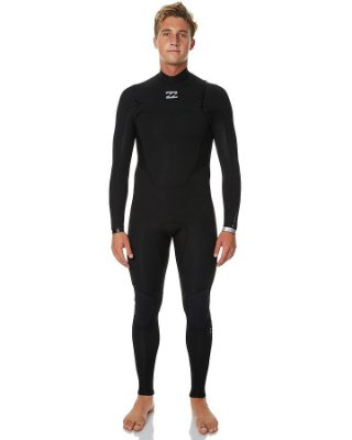 Long John Billabong 302 Absolute Comp Chest Zip Full Preto