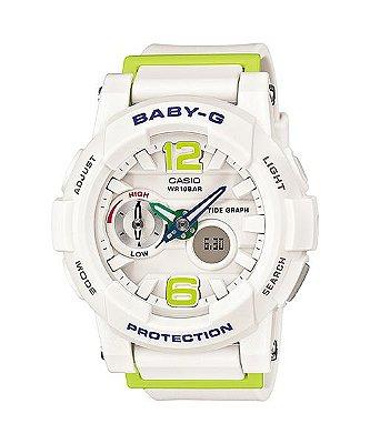Relógio Baby-G BGA-180 Branco/Verde