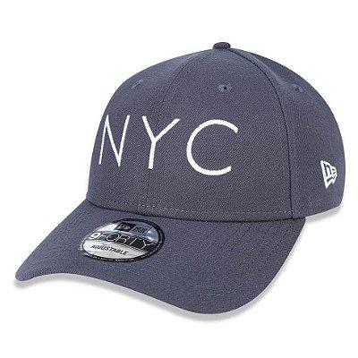 Boné New Era 940 NYC New York City Cinza
