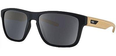 Óculos de Sol HB H-Bomb Matte Black / Wood | Gray