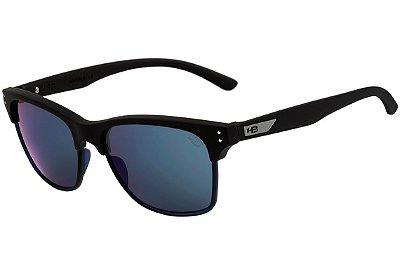 Óculos de Sol HB Slam Fish Matte Black l Blue Chrome