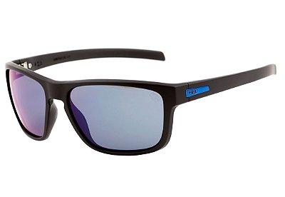 Óculos de Sol HB Thruster Matte Black / D. Blue | Blue Chrome