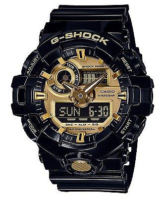 Relógio G-Shock GA-710GB Preto/Dourado