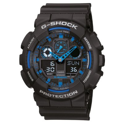 Relógio G-Shock GA-100 Preto/Azul