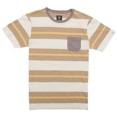 Camiseta Element Striped Amarelo/Marrom