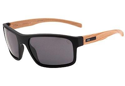 Óculos de Sol HB OverKill Matte Black Wood I Gray