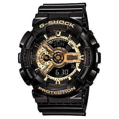 Relógio G-Shock GA-110GB Preto/Dourado