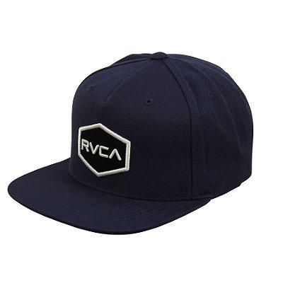 Boné RVCA Snap Cwealth Class R Azul Branco e280ea0ff77