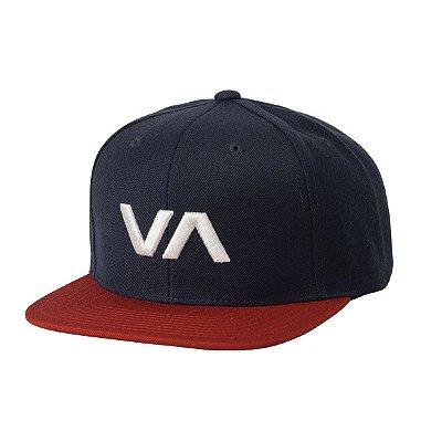 Boné RVCA Snap VA II Azul Marinho/Vermelho