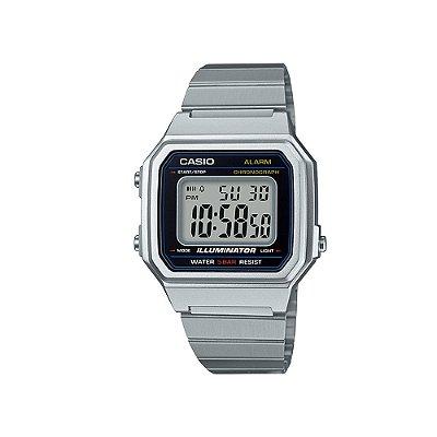 Relógio Casio Vintage B650WD-1ADF Preto/Prata