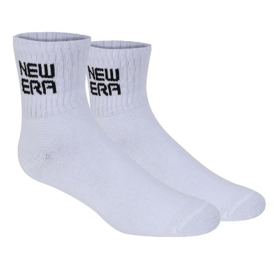 Meia New Era Branded Cano Médio Branca