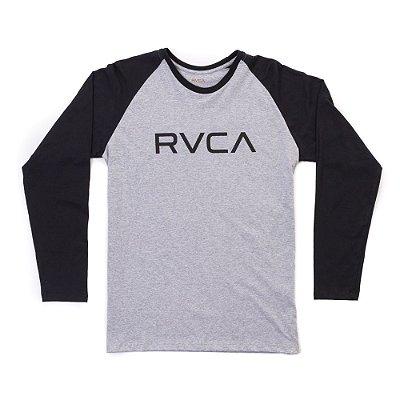 Camiseta RVCA Manga Longa Big RVCA Cinza/Preto