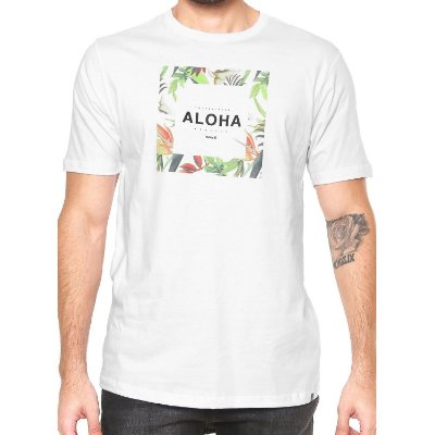 Camiseta Hurley Silk Hawaii Hunt Branca