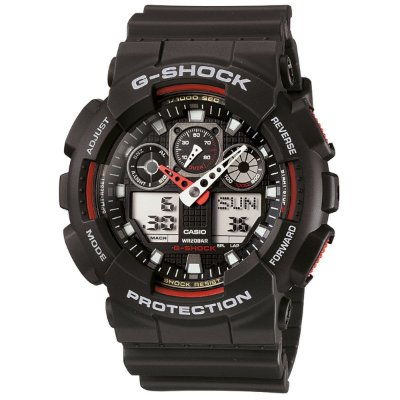 Relógio G-Shock GA-100-1A4DR Preto/Vermelho