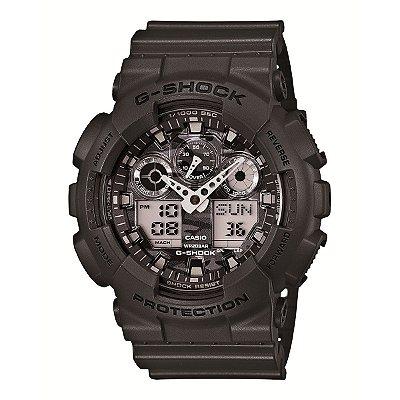 Relógio G-Shock GA-100CF-8ADR Preto/Prata