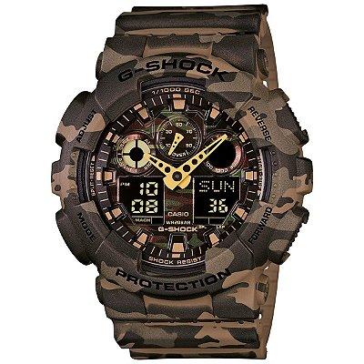 Relógio G-Shock GA-100CM-5ADR Marrom/Verde