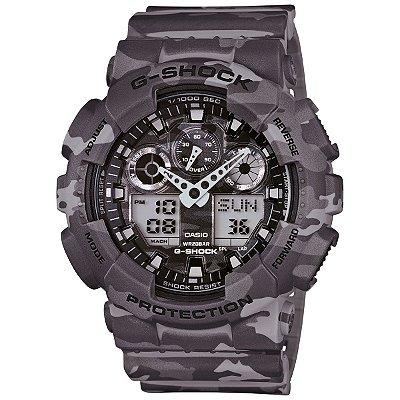 Relógio G-Shock GA-100CM-8ADR Cinza