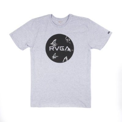 Camiseta RVCA Motors Fill Up Cinza