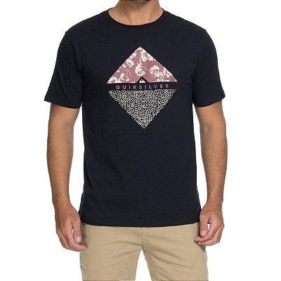 Camiseta Quiksilver Flower Dot Preta