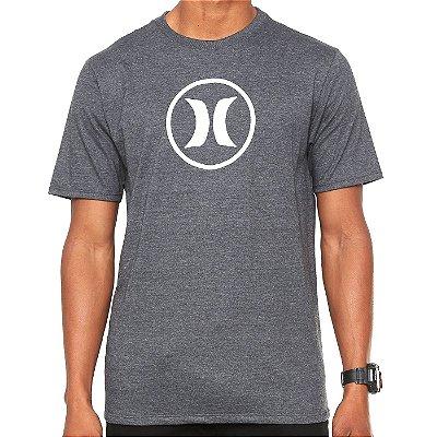 Camiseta Hurley Silk Circle Icon Cinza Escuro