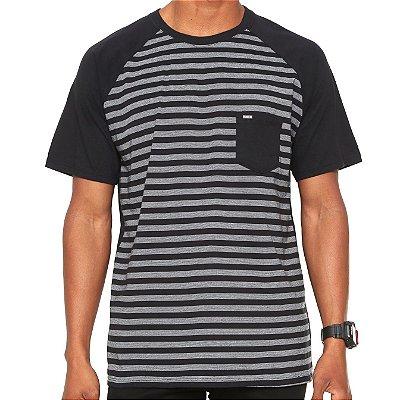 Camiseta Hurley Especial Stripe Preta/Cinza