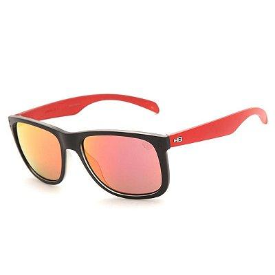 Óculos de Sol HB Ozzie Matte Black / Red l Red Chrome