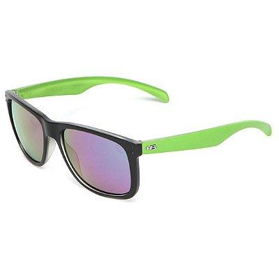 Óculos de Sol HB Ozzie Matte Black / Lucky Green l Green Chrome