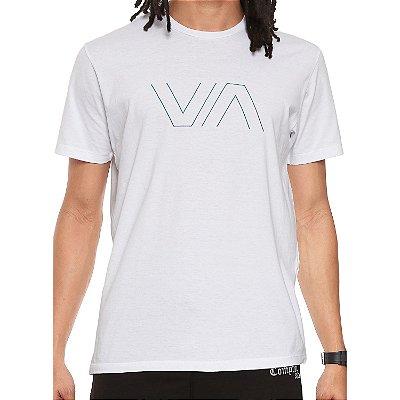 Camiseta RVCA VA Outline Branca