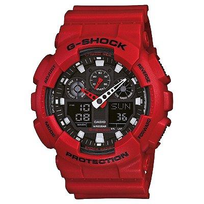 Relógio G-Shock GA-100B-4ADR Vermelho