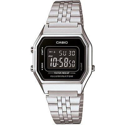 Relógio Casio Vintage LA680WA-1BDF Prata/Preto