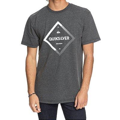 Camiseta Quiksilver Diamond Spirit Cinza Escuro