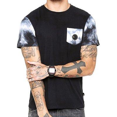 Camiseta Quiksilver Especial Sleece Dyed Preta