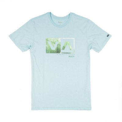 Camiseta RVCA Reflection Box Azul Claro