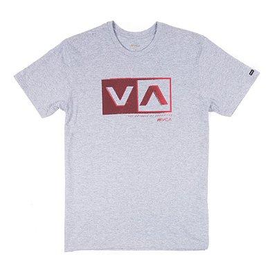 Camiseta RVCA Static Box Cinza