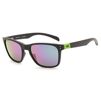 Óculos de Sol HB Gipps II Matte Black Dark Green l Green Chrome dfe9d1ba4b