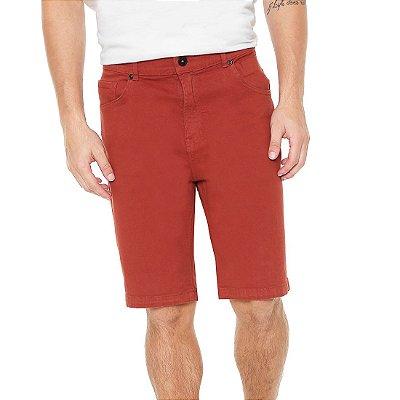 Bermuda Quiksilver Jeans Street Color Vermelha