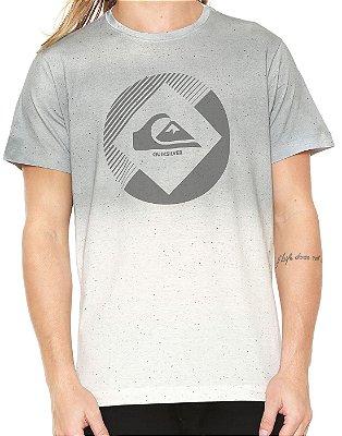 Camiseta Quiksilver Especial Degra Logo Off White