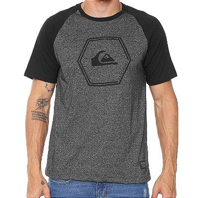 Camiseta Quiksilver Especial EveryDay Raglan Cinza Escuro Vinho ... 938f1ed9ffb