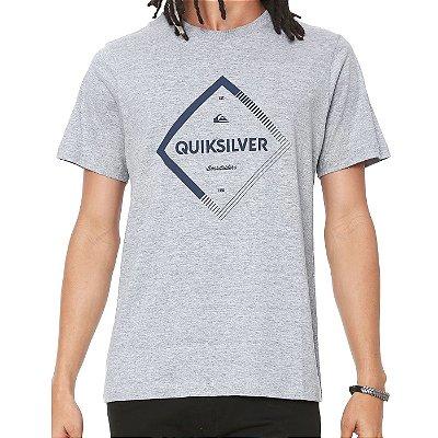 Camiseta Quiksilver Diamond Spirit Cinza Claro