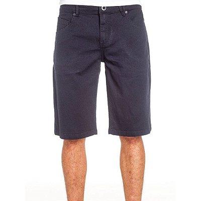 Bermuda Volcom Jeans Navy Vorta Azul Marinho