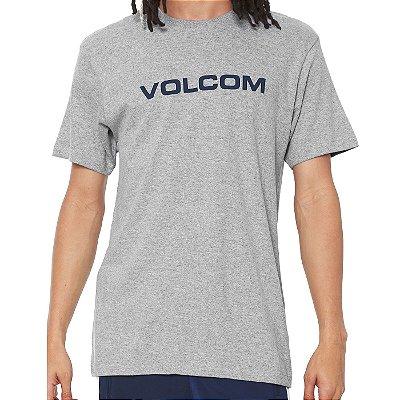 Camiseta Volcom Silk Crisp Euro Cinza Claro