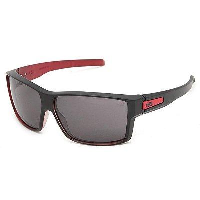 Óculos de Sol HB Big Vert Matte Black On Red   Gray
