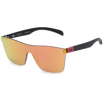 Óculos de Sol HB Floyd Mask Matte Black Dark Red I Red Chrome